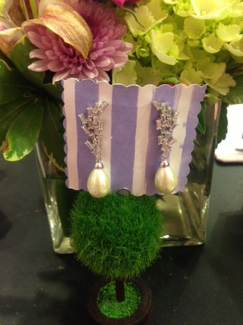 bridal earrings w squares