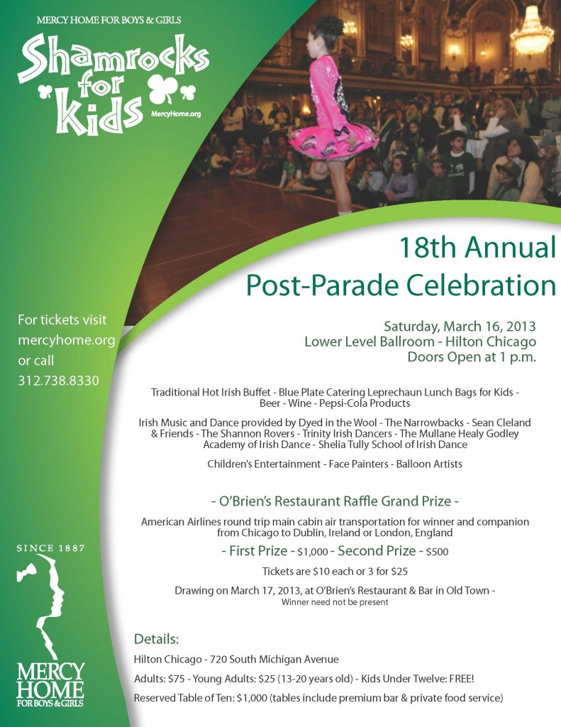Shamrocks for Kids--Post-Parade Celebration