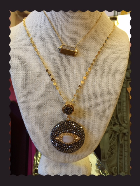 eye crystal necklace